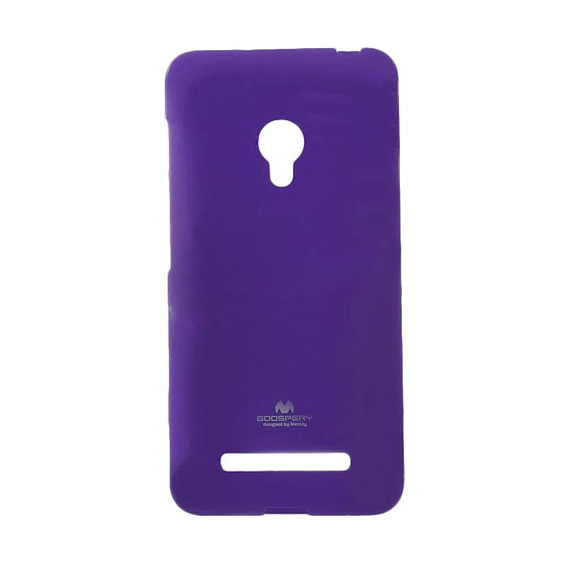 Mercury Goospery Jelly Case Purple Casing for Asus Zenfone 6 A600