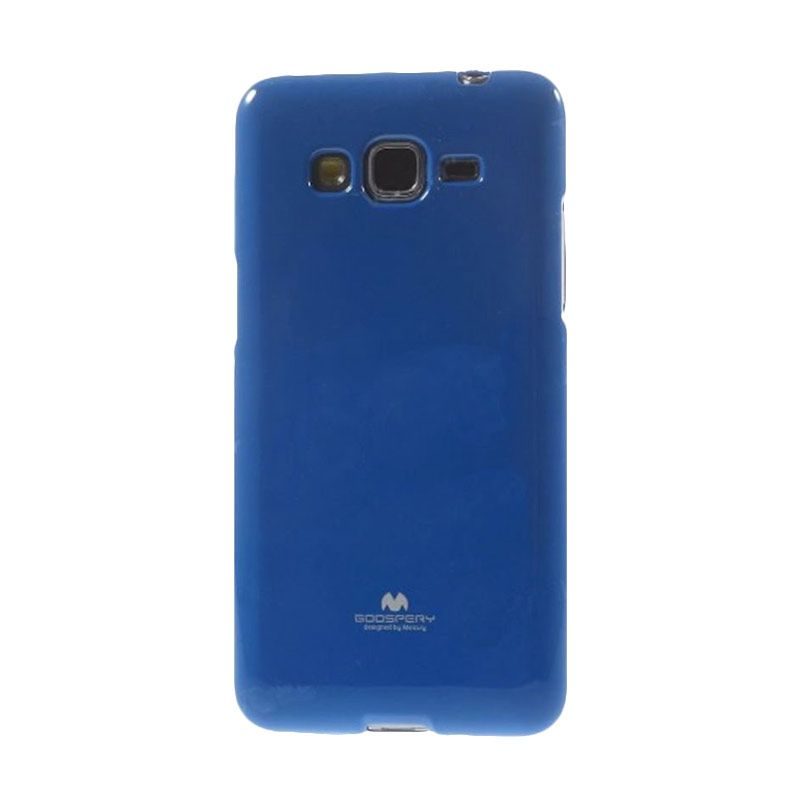 Mercury Goospery Jelly Glitter Blue Casing for Galaxy E7