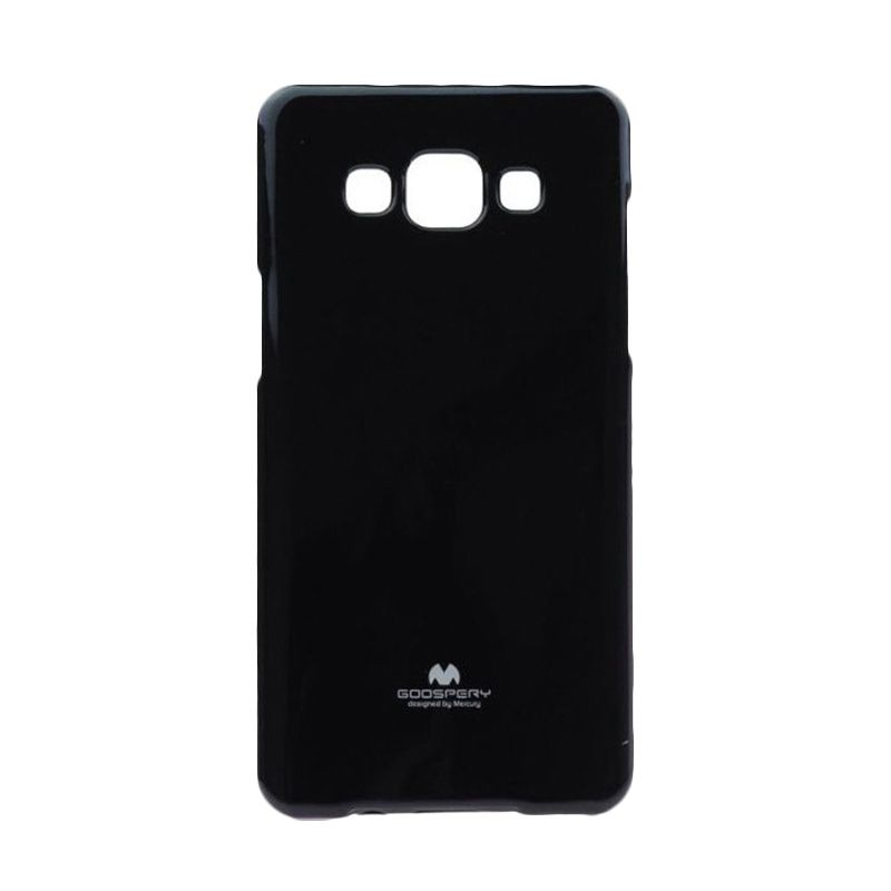 Mercury Goospery Jelly Glitter Black Casing for Galaxy A3