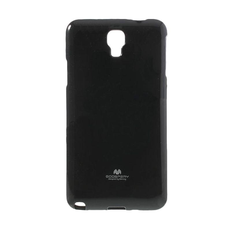 Mercury Goospery Jelly Glitter Black Casing for Galaxy S4