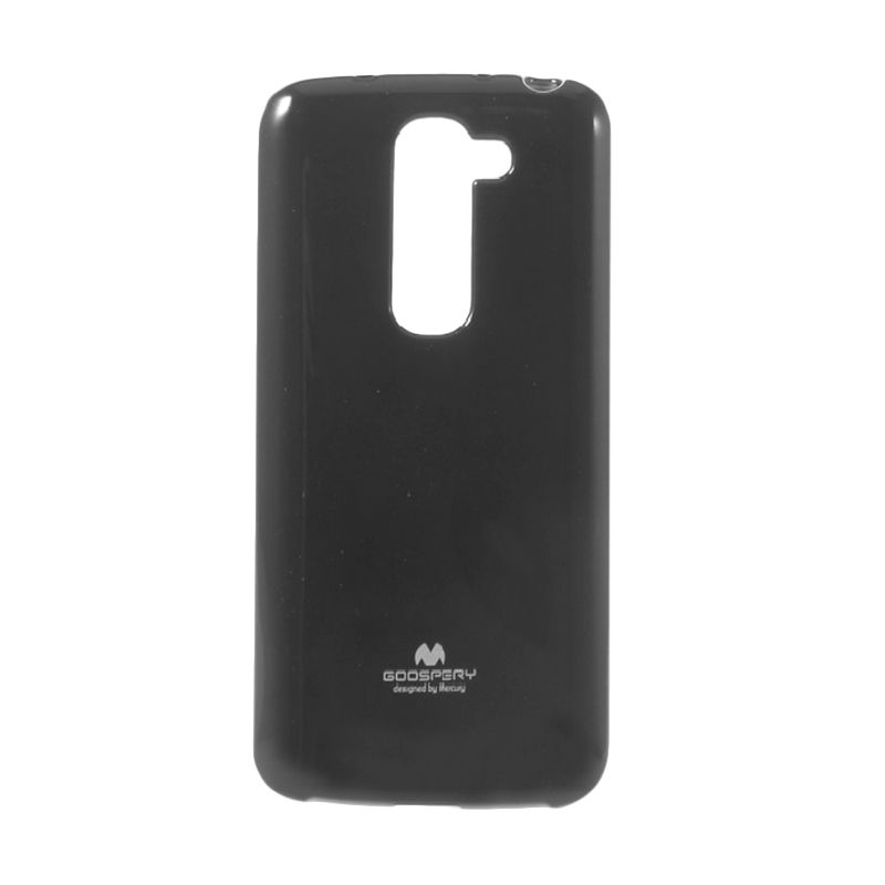 Mercury Goospery Jelly Glitter Black Casing for LG G2