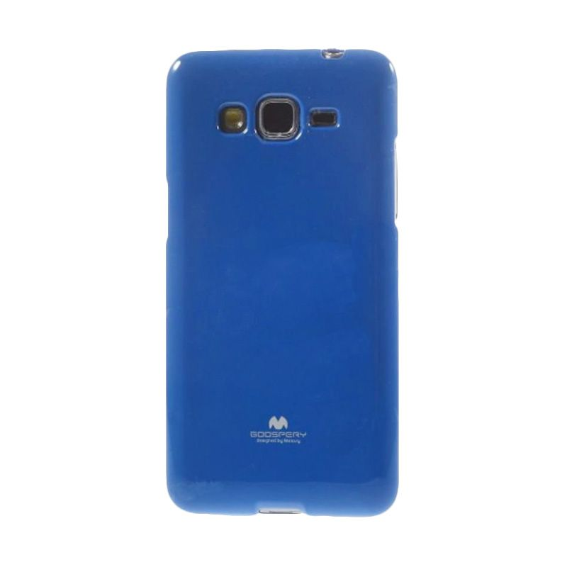 Mercury Goospery Jelly Glitter Blue Casing for Galaxy A3
