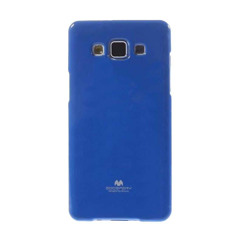 Mercury Goospery Jelly Glitter Blue Casing for Galaxy E5