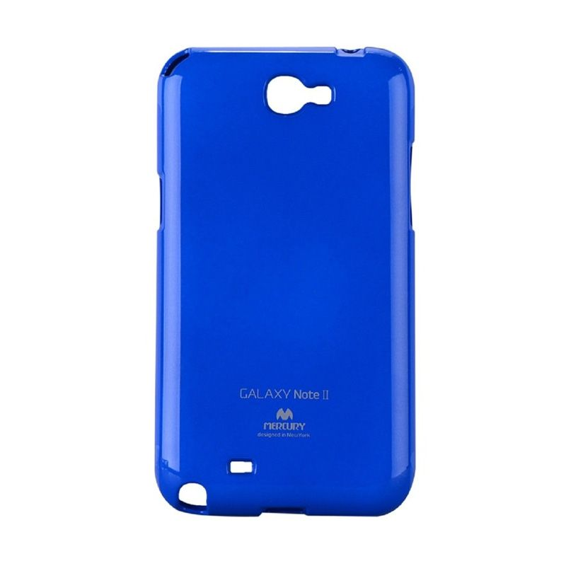 Mercury Goospery Jelly Glitter Blue Casing for Galaxy Note 2