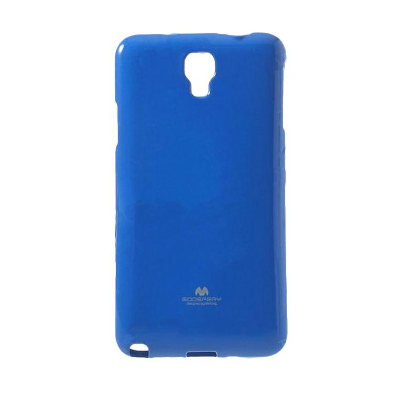 Mercury Goospery Jelly Glitter Blue Casing for Galaxy Note 3 Neo