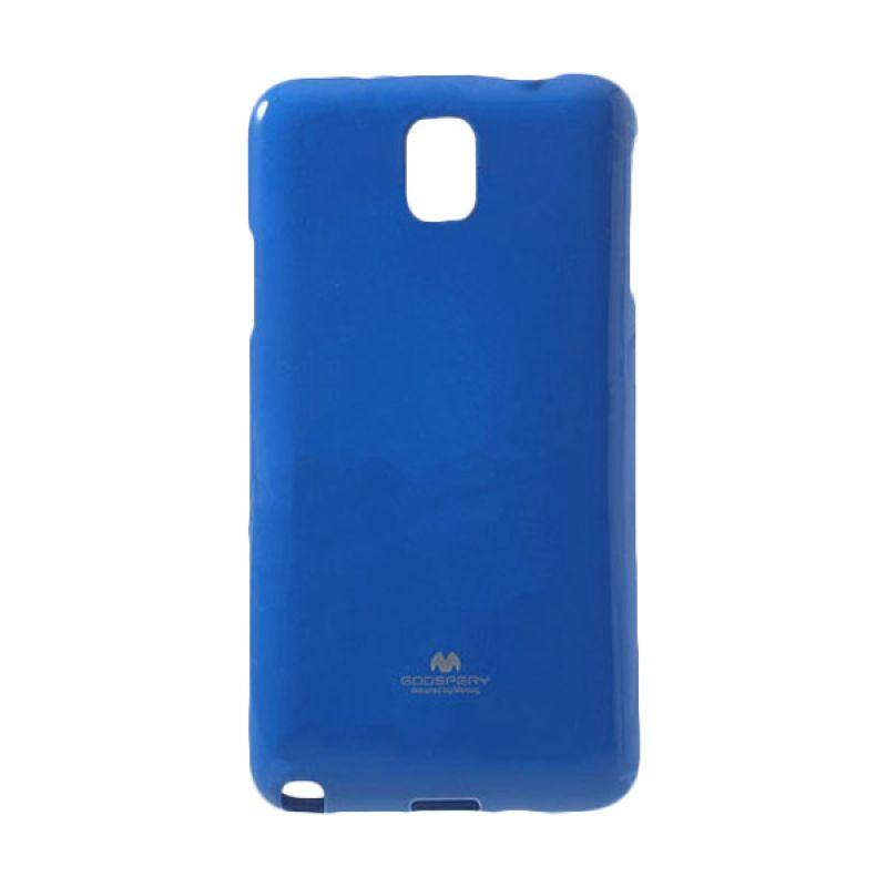 Mercury Goospery Jelly Glitter Blue Casing for Galaxy Note 4