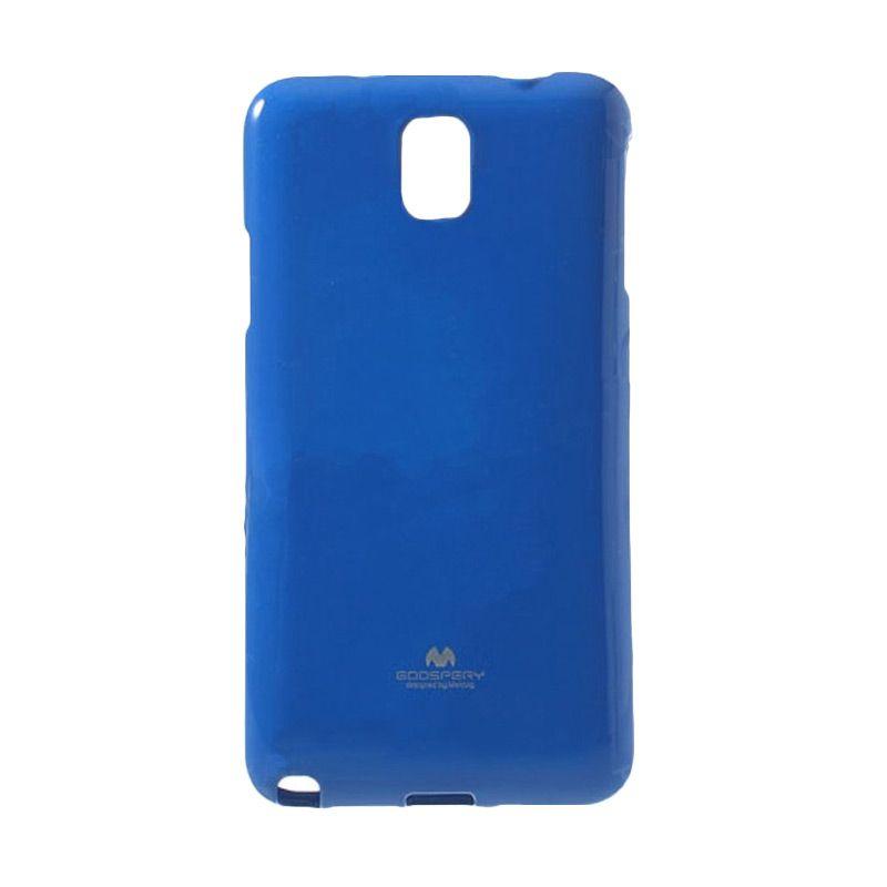 Mercury Goospery Jelly Glitter Blue Casing for Galaxy Note Edge