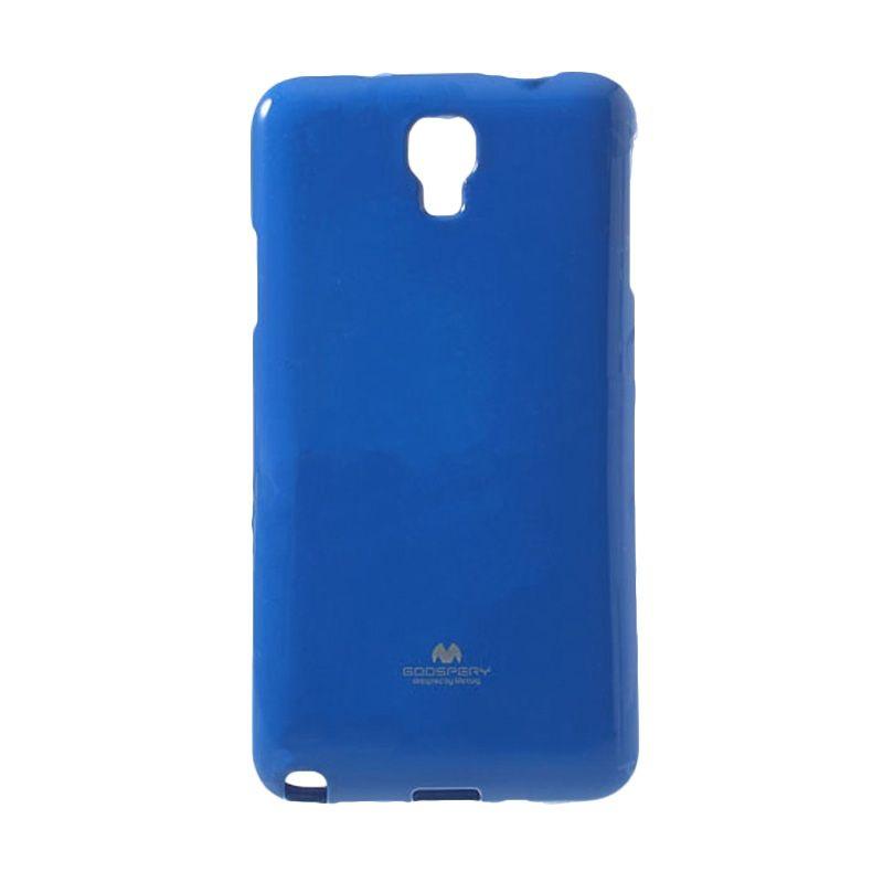 Mercury Goospery Jelly Glitter Blue Casing for Galaxy S4