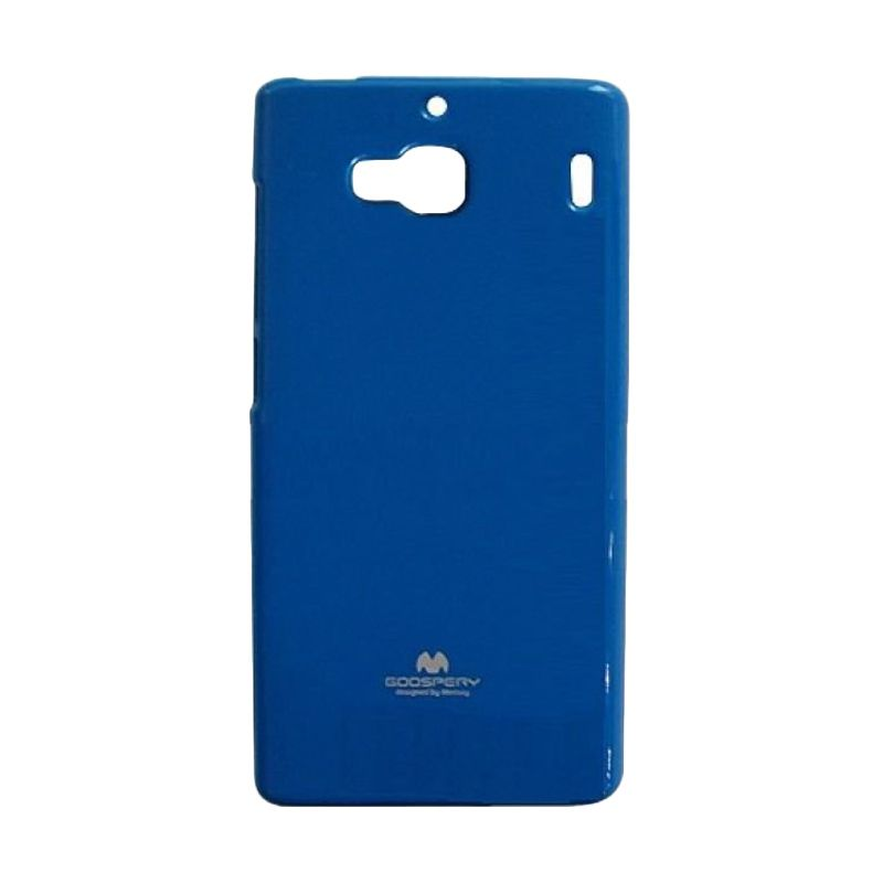 Mercury Goospery Jelly Glitter Blue Casing for Xiaomi Redmi 2