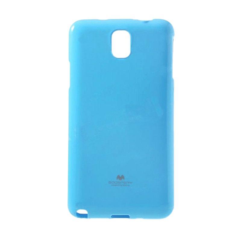 Mercury Goospery Jelly Glitter Case Skyblue Casing for Samsung Galaxy Note Edge