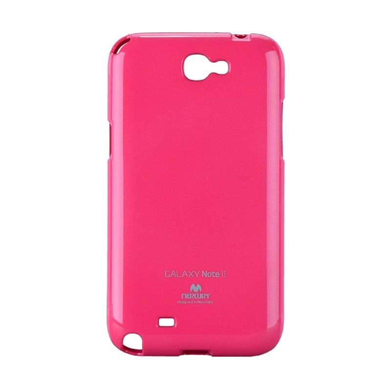 Mercury Goospery Jelly Glitter Hot Pink Casing for Galaxy Note 2