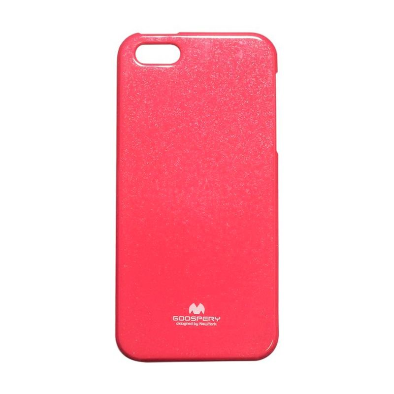 Mercury Goospery Jelly Glitter Hot Pink Casing for iPhone 4 or 4S