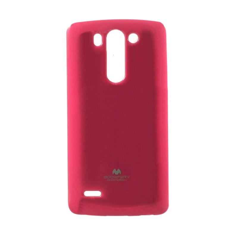 Mercury Goospery Jelly Glitter Hot Pink Casing for LG G3