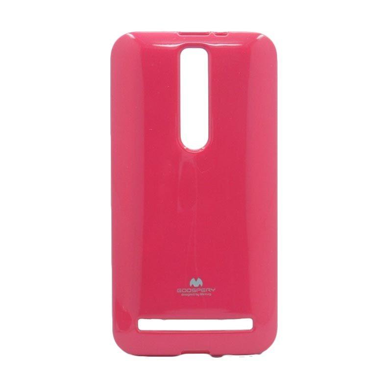 Mercury Goospery Jelly Glitter Hotpink Casing for Asus Zenfone 2