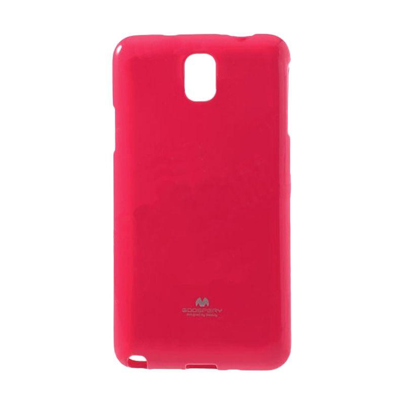 Mercury Goospery Jelly Glitter Hot Pink Casing for Galaxy Note 3