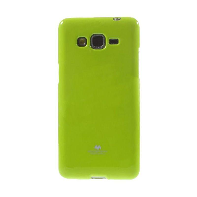 Mercury Goospery Jelly Glitter Lime Casing for Galaxy A3