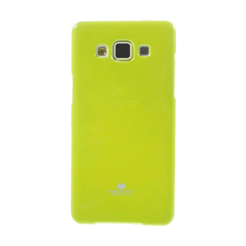 Mercury Goospery Jelly Glitter Lime Casing for Galaxy A5