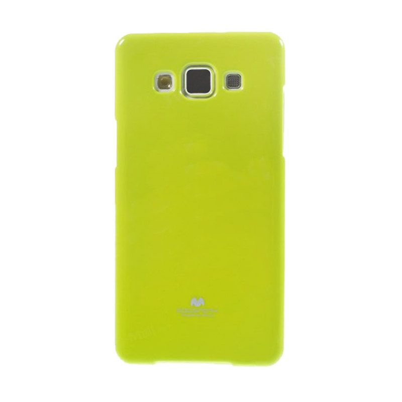 Mercury Goospery Jelly Glitter Lime Casing for Galaxy E5