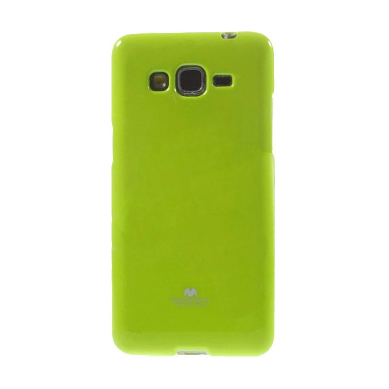 Mercury Goospery Jelly Glitter Lime Casing for Galaxy E7