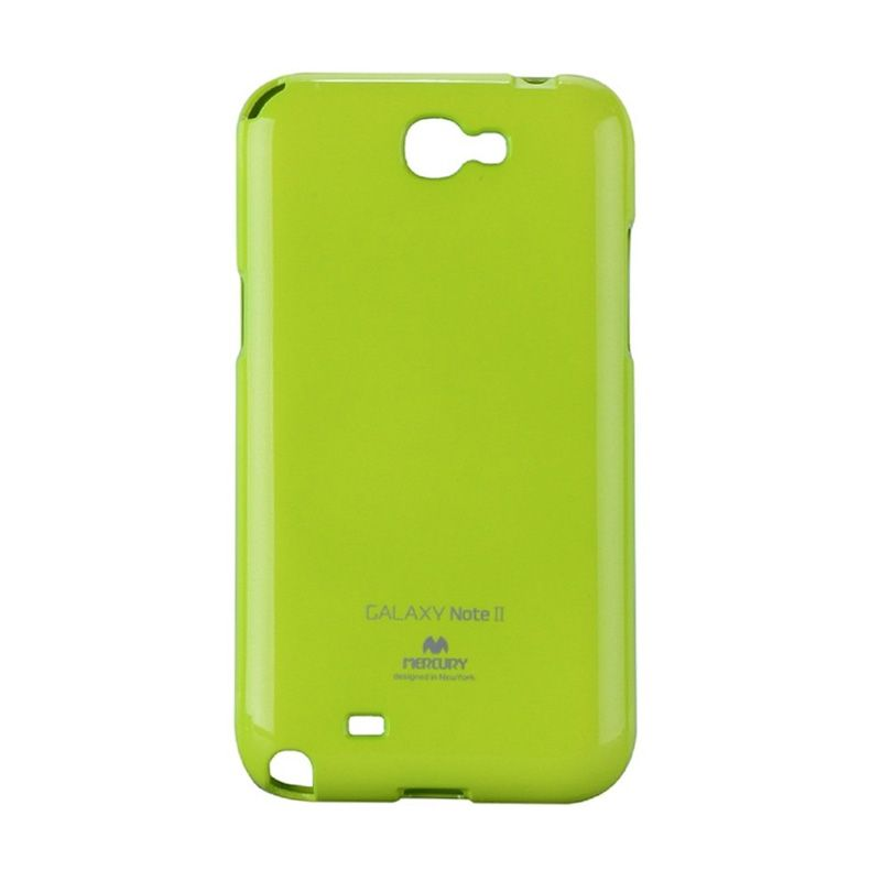 Mercury Goospery Jelly Glitter Lime Casing for Galaxy Note 2