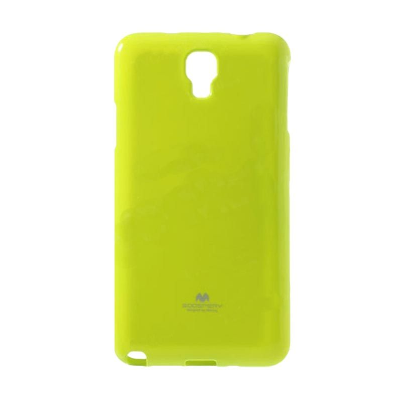 Mercury Goospery Jelly Glitter Lime Casing for Galaxy Note 3 Neo