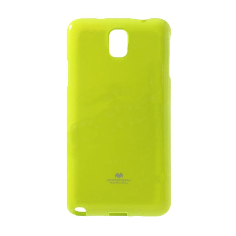 Mercury Goospery Jelly Glitter Lime Casing for Galaxy Note Edge