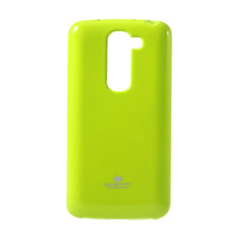 Mercury Goospery Jelly Glitter Lime Casing for LG G2 Mini