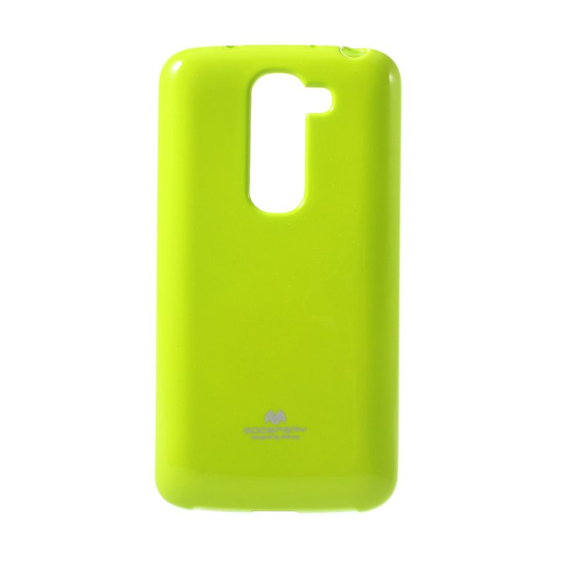 Mercury Goospery Jelly Glitter Lime Casing for LG G2