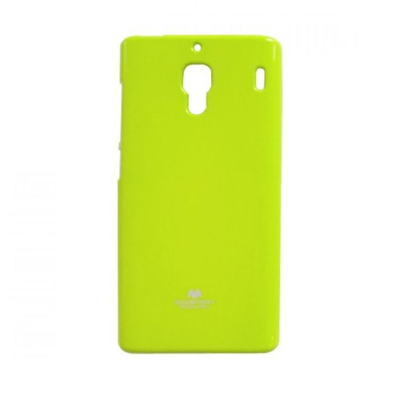 Mercury Goospery Jelly Glitter Lime Casing for Xiaomi Redmi 1S