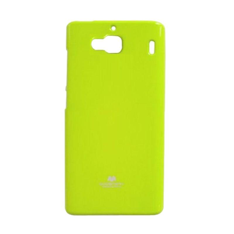 Mercury Goospery Jelly Glitter Lime Casing for Xiaomi Redmi 2