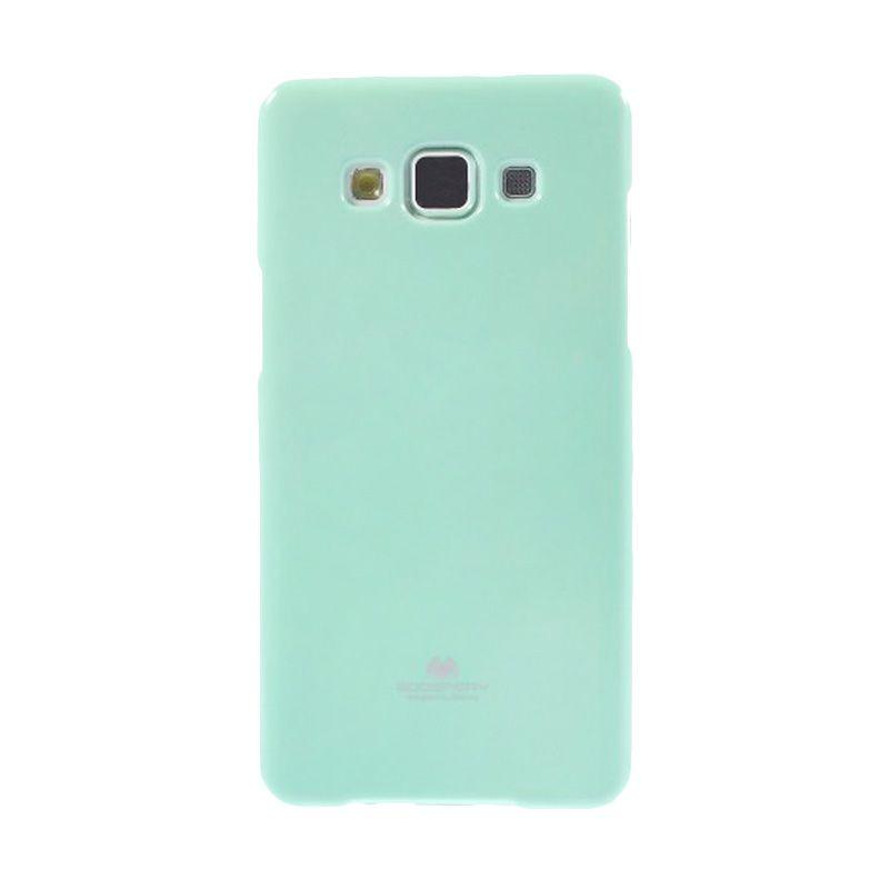 Mercury Goospery Jelly Glitter Mint Casing for Galaxy A5