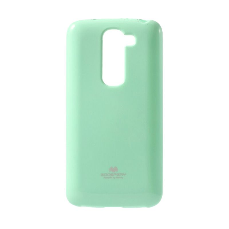 Mercury Goospery Jelly Glitter Mint Casing for LG G2
