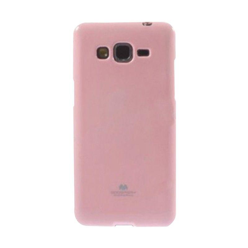 Mercury Goospery Jelly Glitter Pink Casing for Galaxy A3