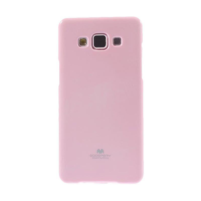 Mercury Goospery Jelly Glitter Pink Casing for Galaxy E5