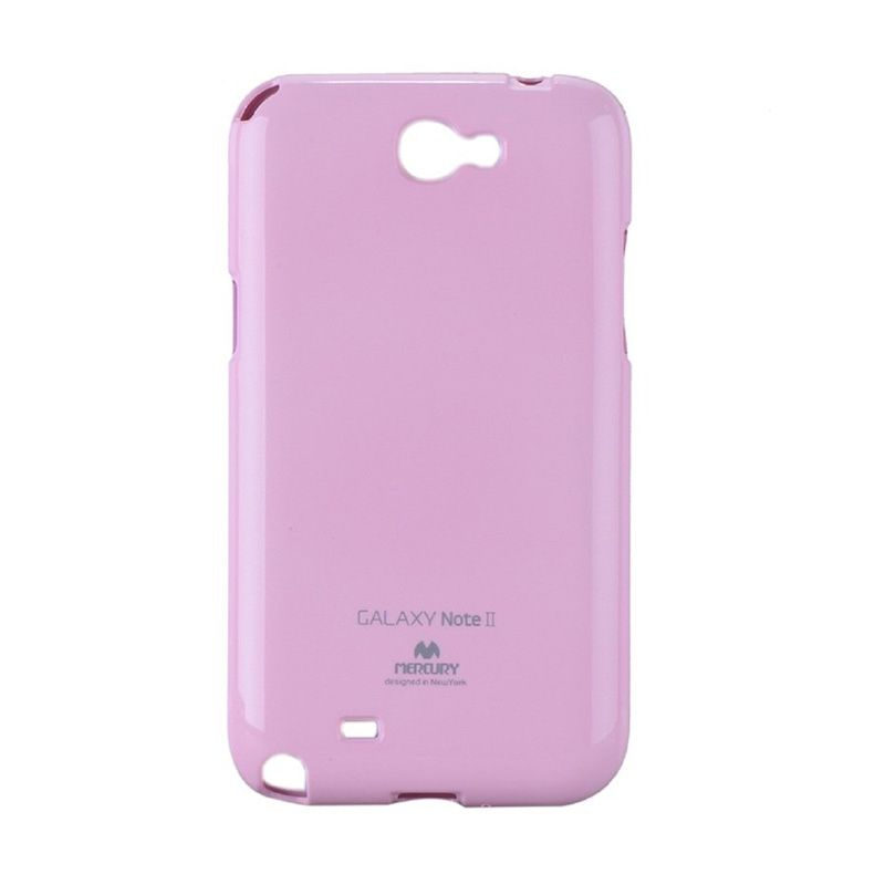 Mercury Goospery Jelly Glitter Pink Casing for Galaxy Note 2