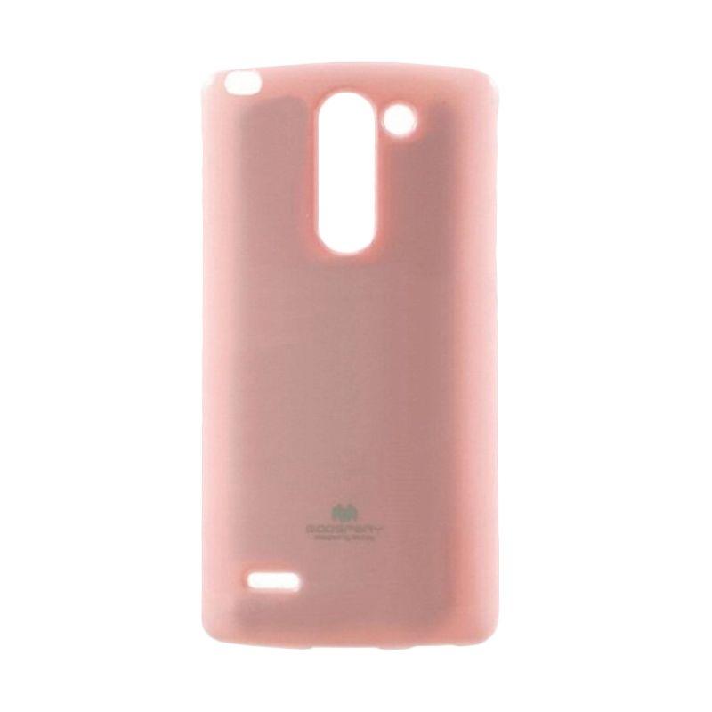 Mercury Goospery Jelly Glitter Pink Casing for LG G3 Stylus