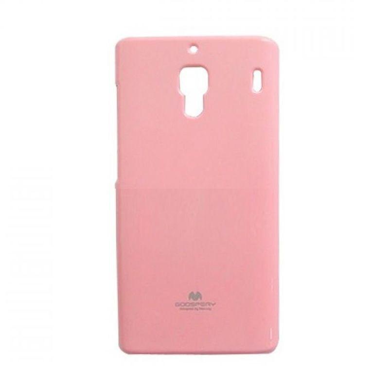 Mercury Goospery Jelly Glitter Pink Casing for Xiaomi Redmi 1S