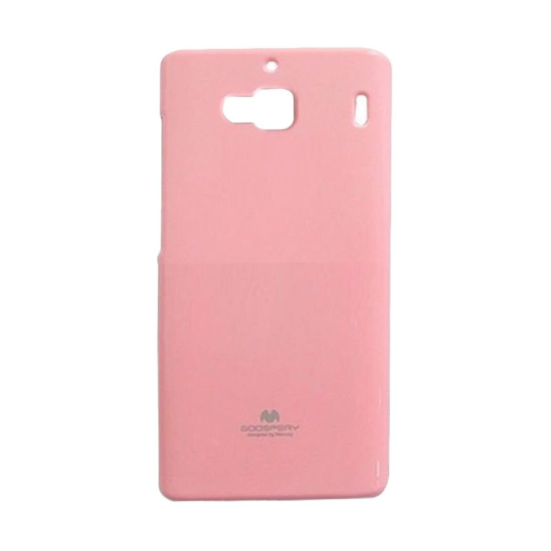 Mercury Goospery Jelly Glitter Pink Casing for Xiaomi Redmi 2