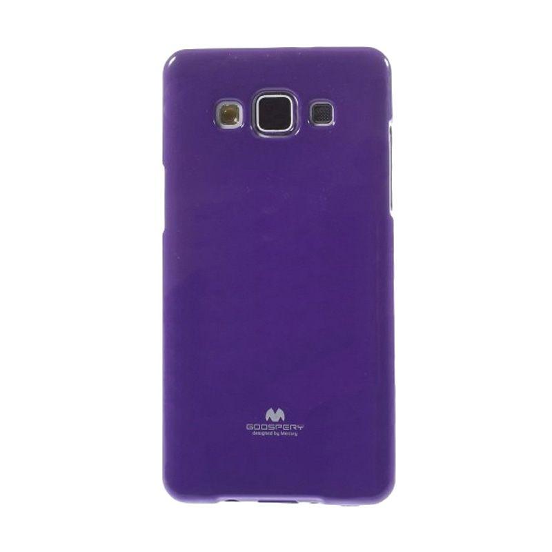 Mercury Goospery Jelly Glitter Purple Casing for Galaxy A3
