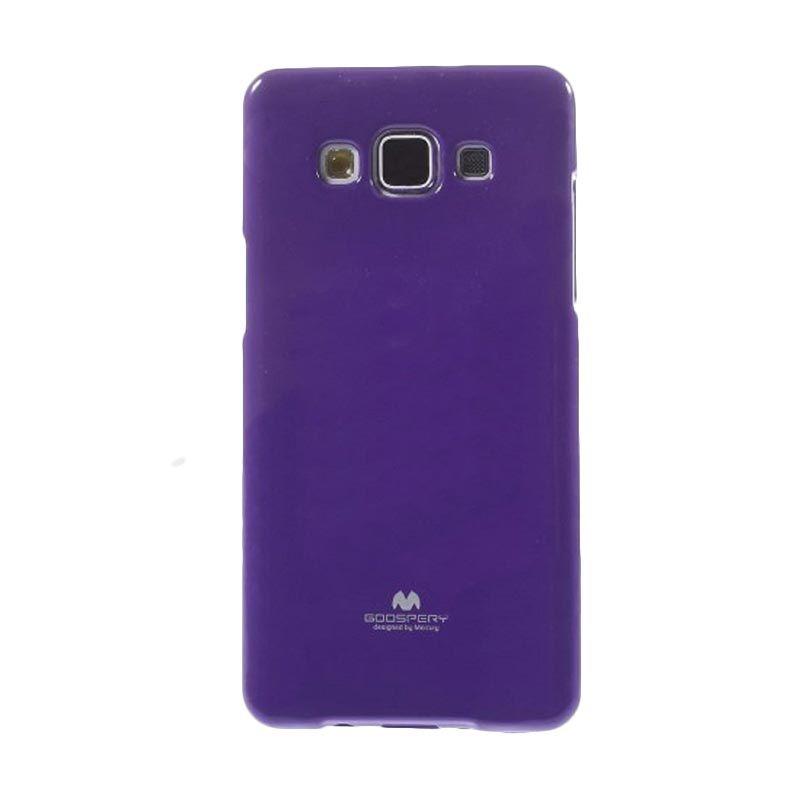 Mercury Goospery Jelly Glitter Purple Casing for Galaxy E5