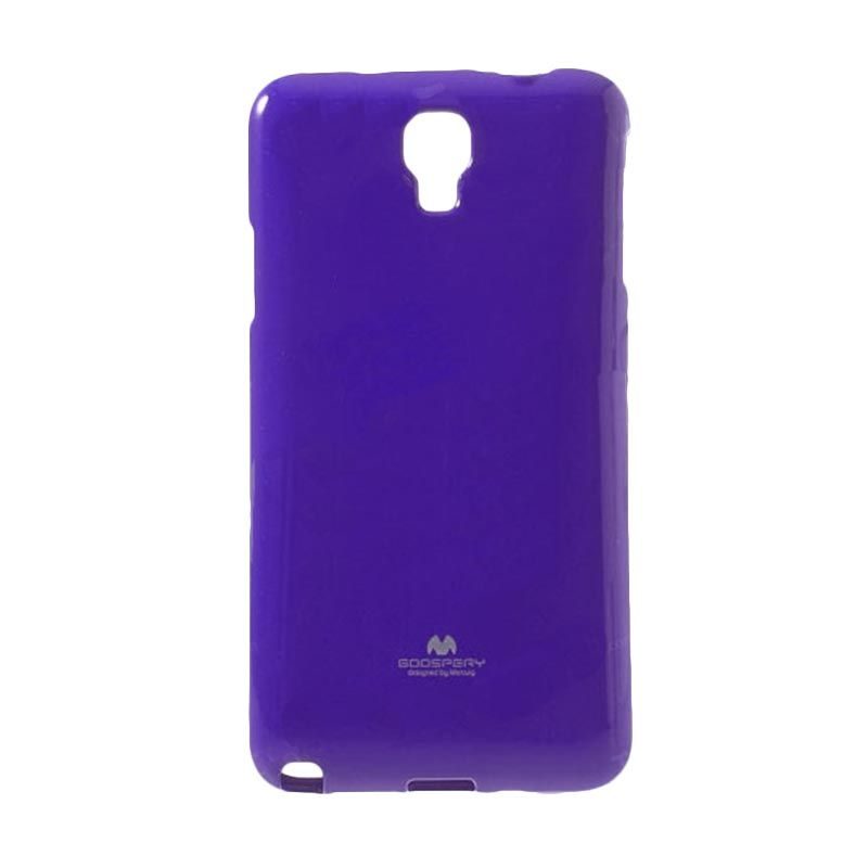 Mercury Goospery Jelly Glitter Purple Casing for Galaxy Note 3 Neo