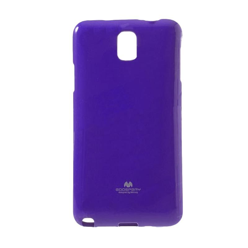 Mercury Goospery Jelly Glitter Purple Casing for Galaxy Note 3