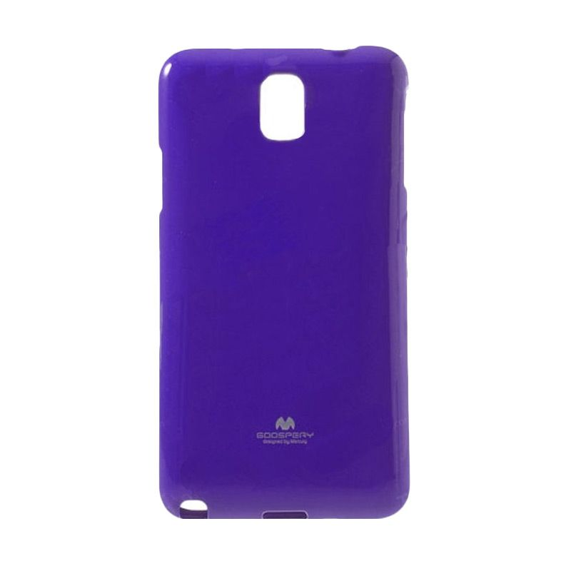 Mercury Goospery Jelly Glitter Purple Casing for Galaxy Note Edge