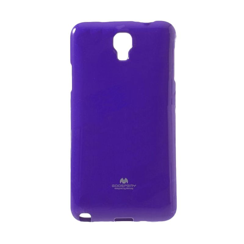 Mercury Goospery Jelly Glitter Purple Casing for Galaxy S4