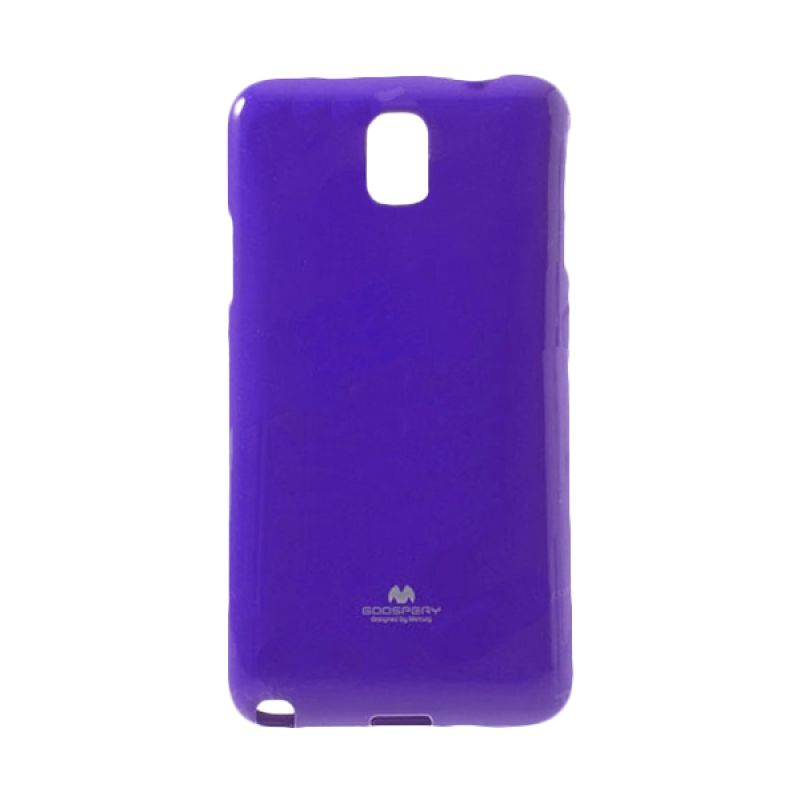 Mercury Goospery Jelly Glitter Purple Casing for Galaxy S5