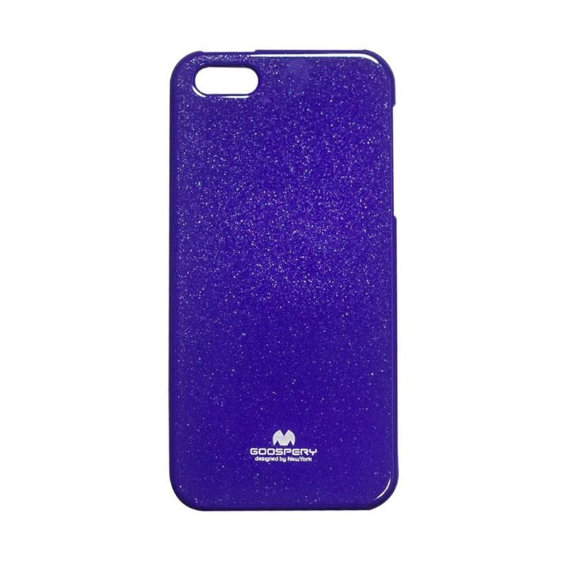 Mercury Goospery Jelly Glitter Purple Casing for iPhone 5 or 5S