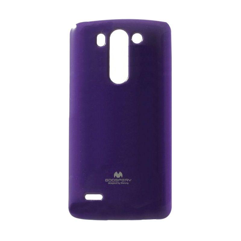 Mercury Goospery Jelly Glitter Purple Casing for LG G3
