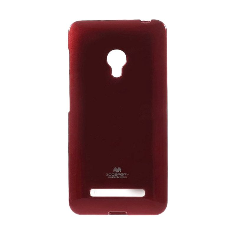 Mercury Goospery Jelly Glitter Red Casing for Asus Zenfone 5