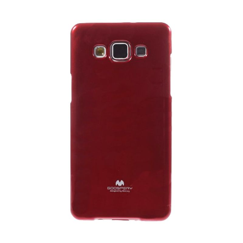 Mercury Goospery Jelly Glitter Red Casing for Galaxy A5