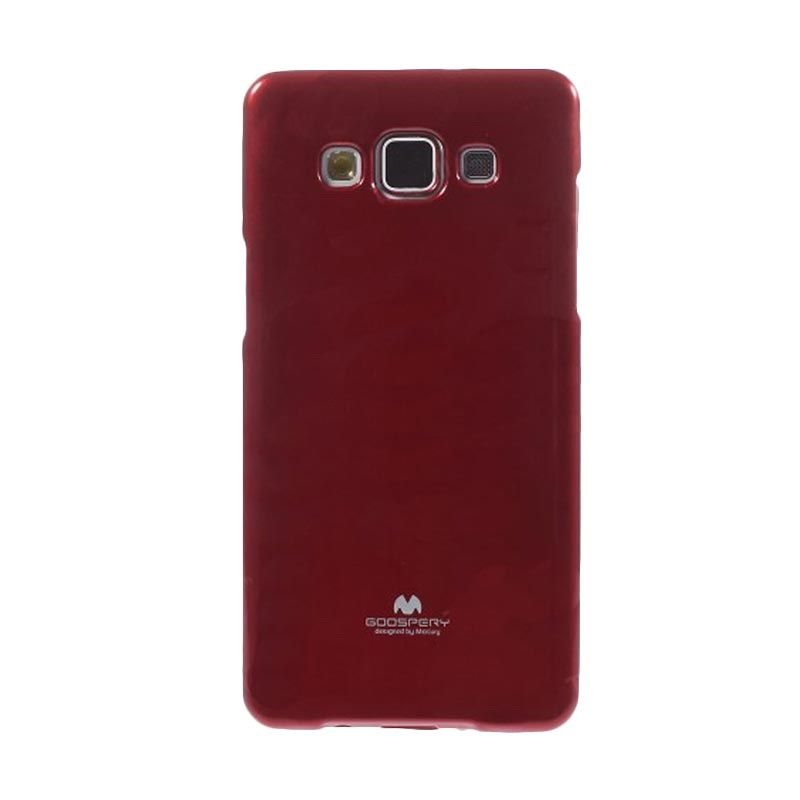 Mercury Goospery Jelly Glitter Red Casing for Galaxy E5